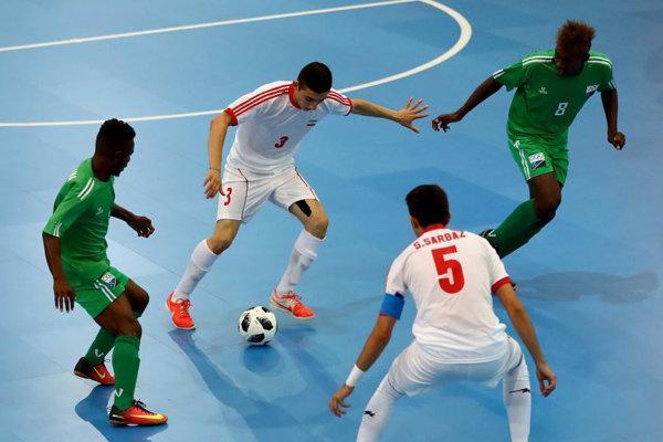 شکست تیم فوتسال ایران مقابل روسیه و حذف از المپیک جوانان