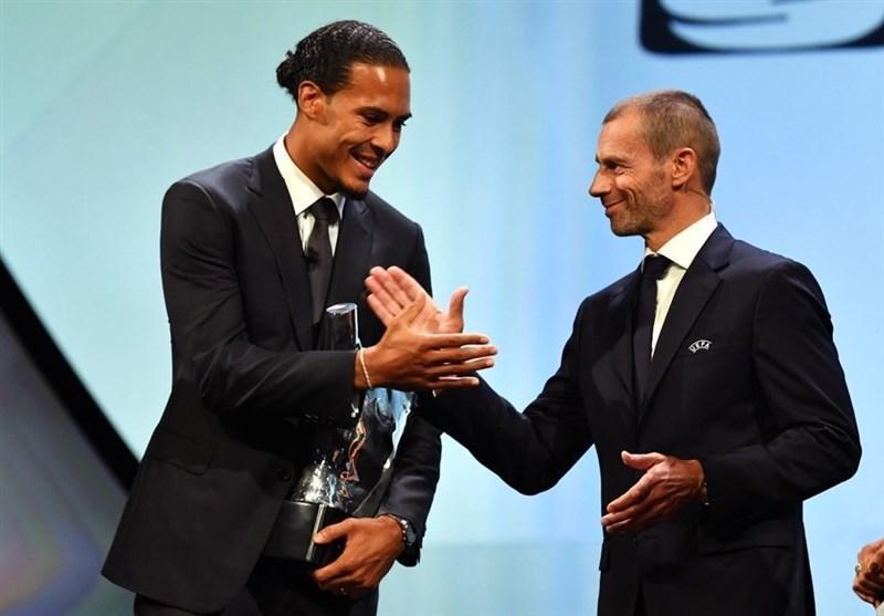 فن دایک بهترین بازیکن فصل 19-2018 لیگ قهرمانان اروپا شد، مسی، دی یونگ و آلیسون در جمع برترین ها