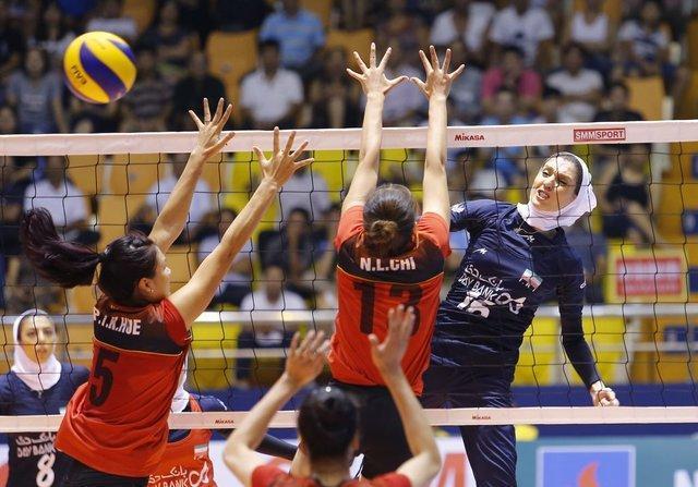 پیروزی بانوان والیبالیست ایران برابر ویتنام