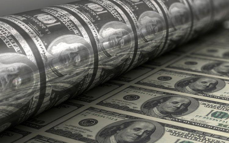 آمریکا سالانه چه قدر اسکناس دلار چاپ می نماید؟