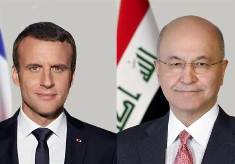 تماس تلفنی ماکرون با برهم صالح و تاکید بر حمایت از حاکمیت عراق