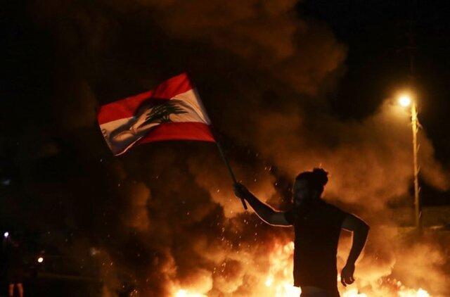 تظاهرات لبنانی ها در سالروز اعتراضات 17 اکتبر