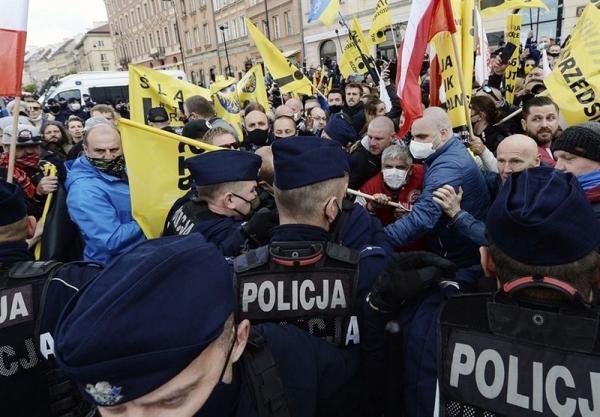 اعتراضات گسترده ضد محدودیت های کرونایی در سراسر اروپا