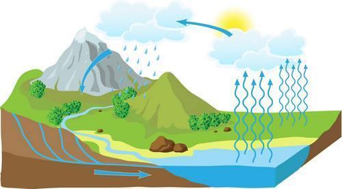 همه چیز درباره چرخه آب در طبیعت (تحقیق، نقاشی و کاردستی)