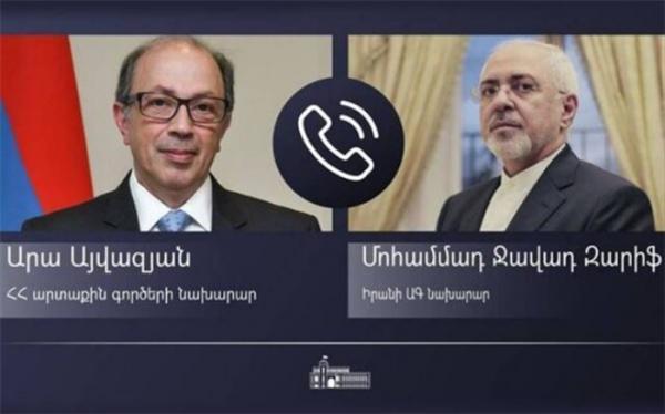 وزیر خارجه ایران و همتای ارمنستانی گفت وگو کردند