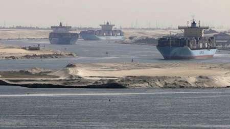 تردد کشتی ها در کانال سوئز مختل شد