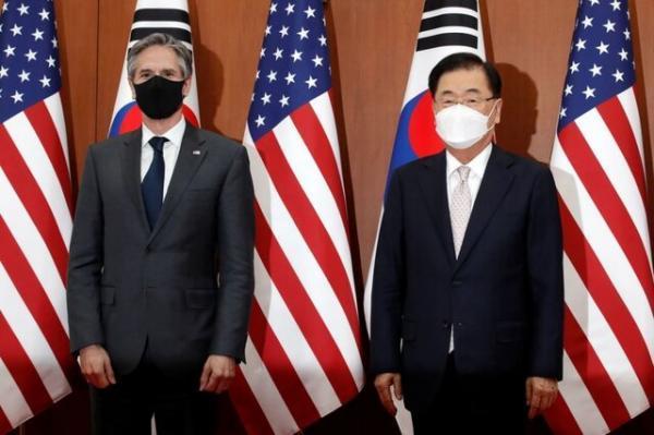 تاکید وزرای امور خارجه آمریکا و کره جنوبی در راستای خلع سلاح اتمی شبه جزیره کره