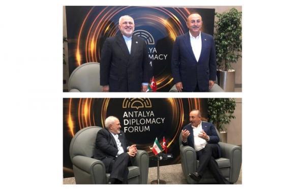 توافق وزرای خارجه ایران و ترکیه درباره برنامه کاری نشست های سه جانبه تهران، آنکارا، باکو