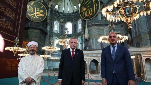 اولین نماز آدینه ایاصوفیه پس از حدود یک قرن برگزار گردید